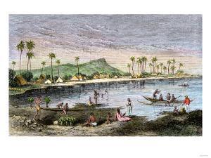 Diamond Head and Waikiki in the Hawaiian Islands, 1870s