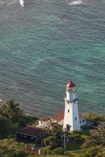 Diamond Head Lighthouse, Honolulu, Oahu, Hawaii, United States of America, Pacific-Michael DeFreitas-Photographic Print