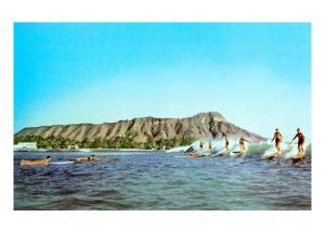 Diamond Head, Surfers, Hawaii