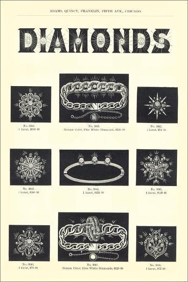 Diamond Jewelry Assortment--Art Print