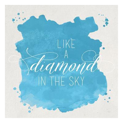 Diamond Sky Blue-Gigi Louise-Art Print