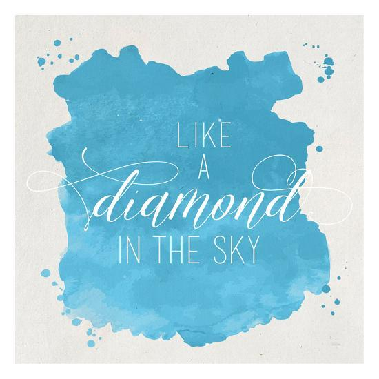 Diamond Sky Blue-Gigi Louise-Art Print