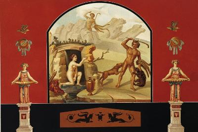 Diana and Actaeon, House of Sallust, Pompei, Volume III, Plate III-Fausto and Felice Niccolini-Giclee Print