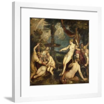 Diana and Callisto, by Titian--Framed Giclee Print