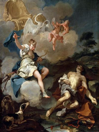 Diana and Endymion, 1723-Giovanni Battista Pittoni-Giclee Print
