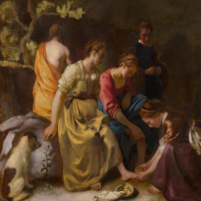 Diana and her Companions, c.1655-56-Johannes Vermeer-Giclee Print