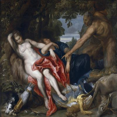 Diana and Her Nymph Surprised by Satyr-Sir Anthony Van Dyck-Giclee Print