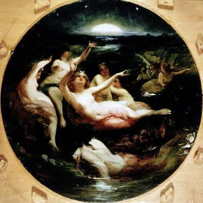 Diana and Her Nymphs, 1850-John George Naish-Giclee Print
