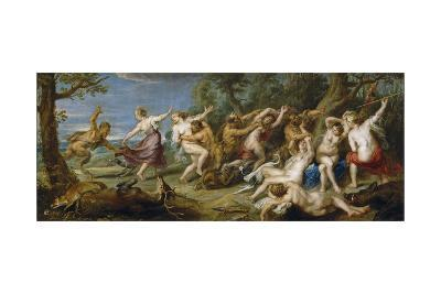 Diana and Her Nymphs Surprised by Satyrs, 1638-1640-Peter Paul Rubens-Giclee Print