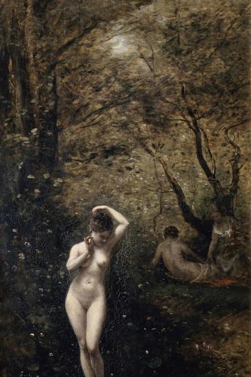 Diana Bathing, 1873-1874-Jean-Baptiste-Camille Corot-Giclee Print