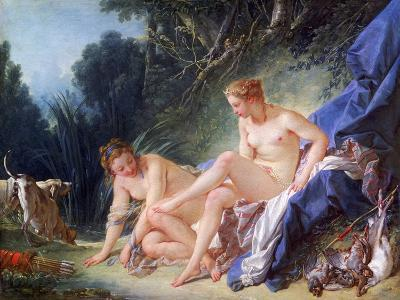 Diana Getting Out of Her Bath, 1742-Fran?ois Boucher-Giclee Print