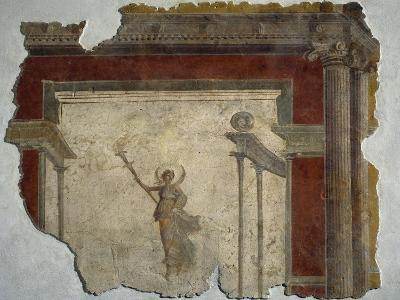 Diana Holding Up Lit Torch Fragment from North Wall of Domus in Piazza Sonnino--Giclee Print