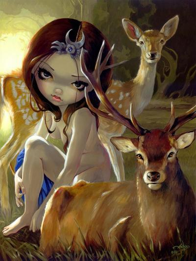 Diana in the Forest-Jasmine Becket-Griffith-Art Print
