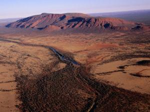 Aerial View of Mt. Augustus, Australia by Diana Mayfield