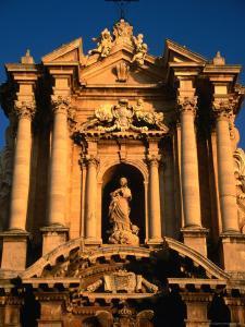 Baroque Facade of Il Duomo, Syracuse, Sicily, Italy by Diana Mayfield