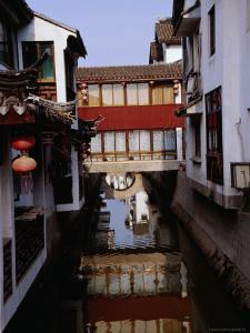 Buildings on the Canal, Suzhou, Jiangsu, China by Diana Mayfield