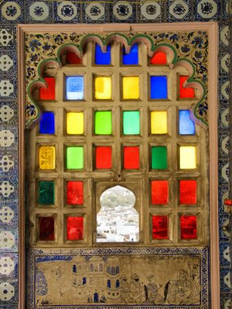 Coloured Window Detail in City Palace
