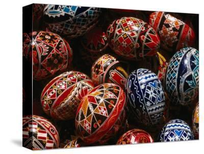 Decorated Eggs for Sale Outside Humor Monastery, Humor Monastery, Suceava, Romania,