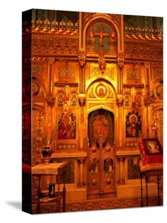 Interior Artworks of Episcopal Church, or the Monastery of Curtea De Arges, Romania,