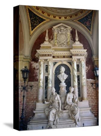 Marble Mausoleum in the Arcades at Zentralfriedhof (Central Cemetery), Vienna, Austria