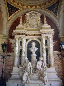 Marble Mausoleum in the Arcades at Zentralfriedhof (Central Cemetery), Vienna, Austria by Diana Mayfield