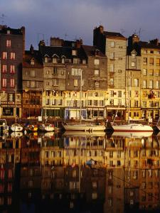 Morning Reflections of the Vieux Bassin, Honfleur, Basse-Normandy, France by Diana Mayfield