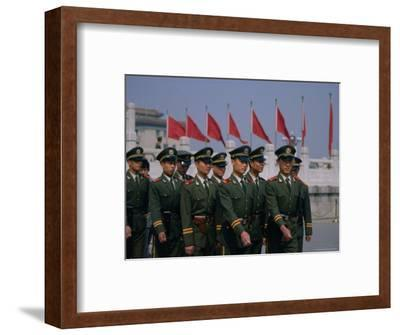 People's Liberation Army Soldiers at Tianananmen Square, Beijing, China