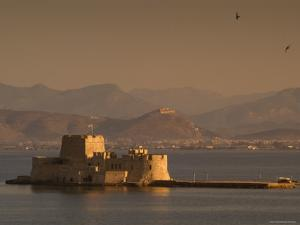 Small Island Fortress of Bourtzi, Built by Venetians in 15th Century, Nafplio, Peloponnese, Greece by Diana Mayfield