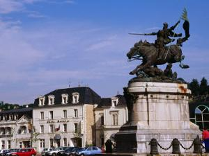 Statue of Joan of Arc in Place Jeanne d'Arc, Chinon, France by Diana Mayfield