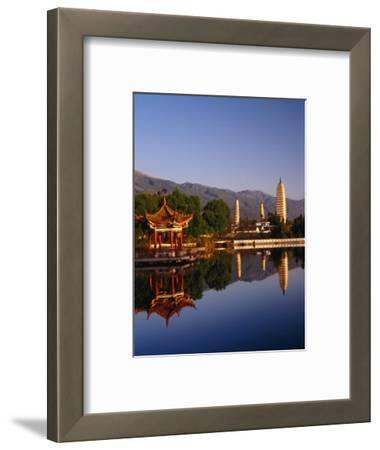 The Three Pagodas, Reflected in Lake, Dali, Yunnan, China