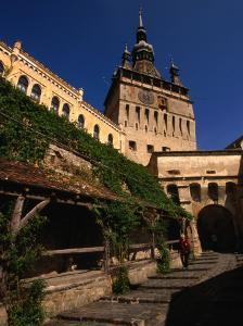 Turnul Cu Ceas Clocktower (1360), Sighisoara, Mures, Romania, by Diana Mayfield
