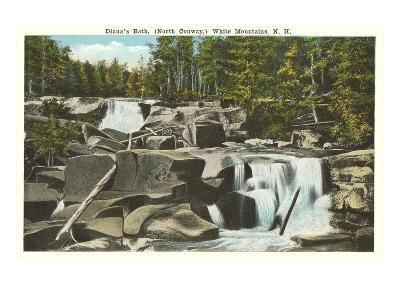 Diana's Bath, White Mountains, New Hampshire--Art Print