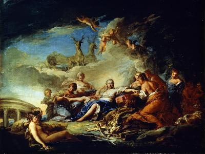 Diana's Rest on the Hunt, 17th Century-Carle van Loo-Giclee Print
