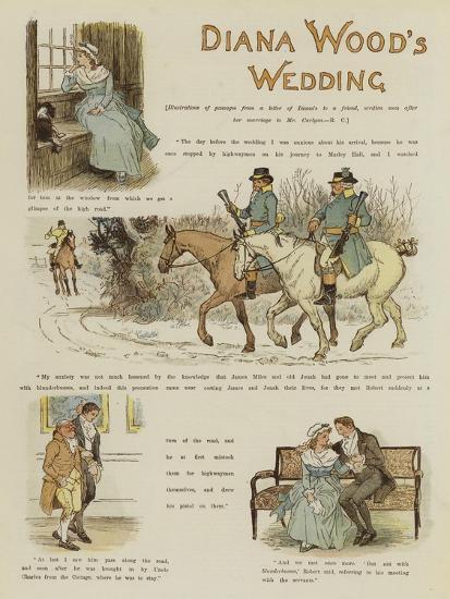 Diana Wood's Wedding--Giclee Print