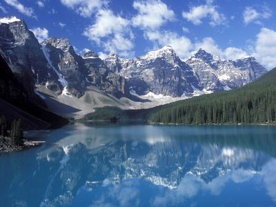 Moraine Lake in the Valley of Ten Peaks, Canada