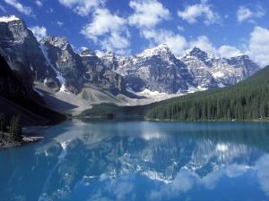 Moraine Lake in the Valley of Ten Peaks, Canada by Diane Johnson
