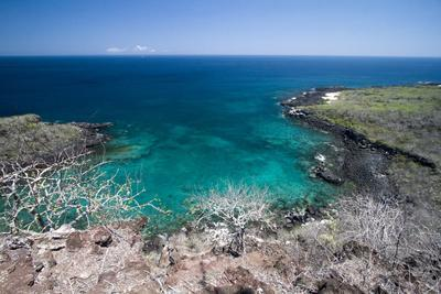 West Side of San Cristobal Island, Viewed from Frigate Bird Hill, Galapagos Islands