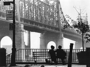 Diane Keaton and Woody Allen MANHATTAN, 1979 directed by Woody Allen (b/w photo)