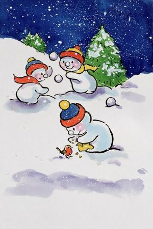 Little Snowmen Snowballing, 1996