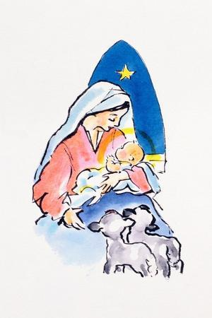 Madonna and Child with Lambs, 1996