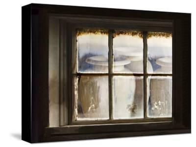 Ceramic Vases Behind Window
