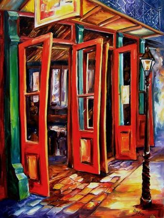 Big Red Doors In The French Quarter by Diane Millsap