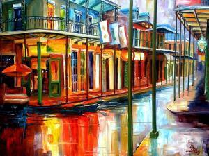 Downpour on Bourbon Street by Diane Millsap