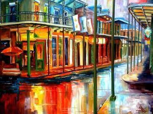 Downpour On Bourbon Streetdiane Millsap Art Print From 23 99 Streetcars In New Orleans
