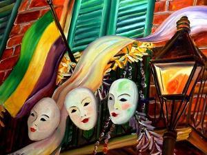 Mardi Gras Balcony by Diane Millsap