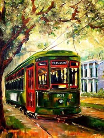 New Orleans St Charles Streetcar by Diane Millsap