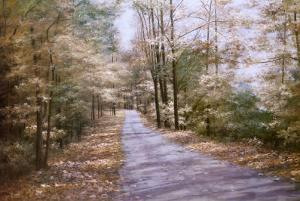 Autumn Path by Diane Romanello