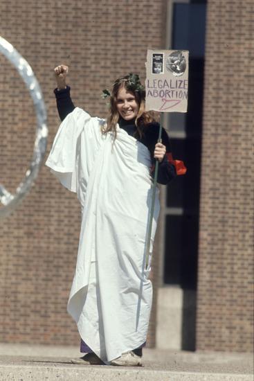 Diane Schollander Protesting Pro Abortion at University of Pennsylvania Campus, 1970-Art Rickerby-Photographic Print