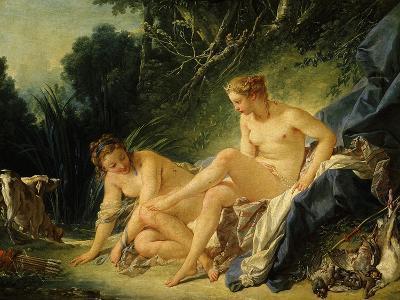 Diane Sortant Du Bain (Goddess Diana after Bathing) (Exhibited 1742)-Francois Boucher-Giclee Print