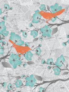 Cherry Blossom Birds 6 by Diane Stimson